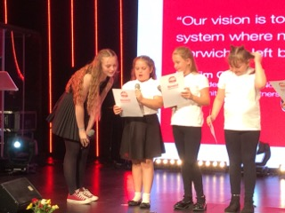 "Jodie from Sewell Park Academy and Catton Grove Year 5's explain their ""hopes and dreams"""