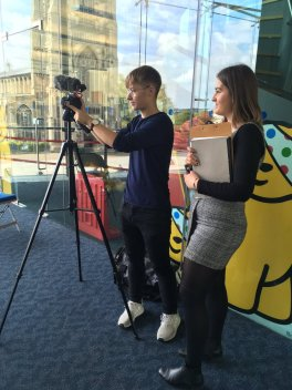 Lauren and Alfie capture views on social mobility in the Forum